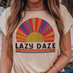 'Lazy Daze' Multi Color T-shirt